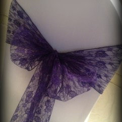 Purple Chair Sashes For Weddings Navy Blue Wooden Rocking Lace Bow Wedding Covers Central Scotland