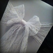 Lace chair cover bow, Glasgow - Lily Special Events