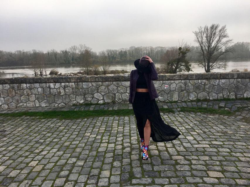 lilytoutsourire comment porter la jupe longue noire en hiver