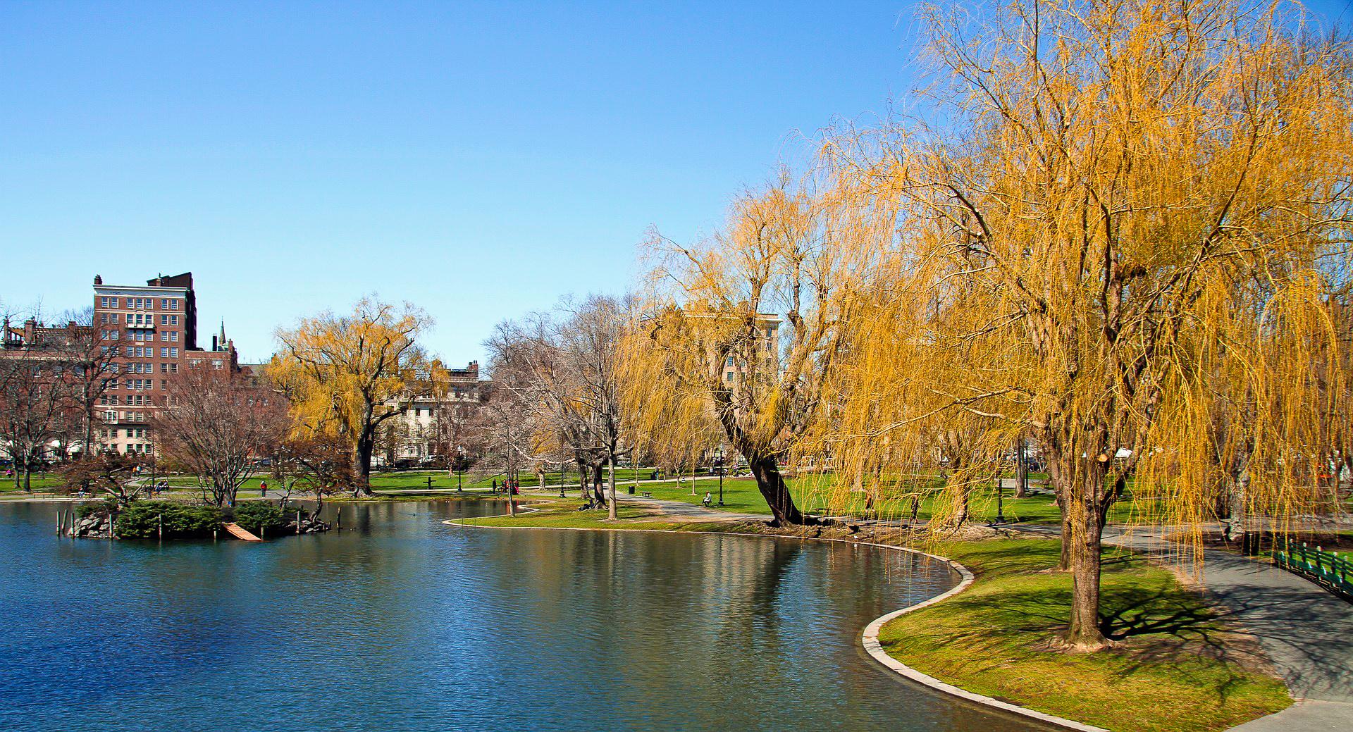 Boston Public Garden in Boston