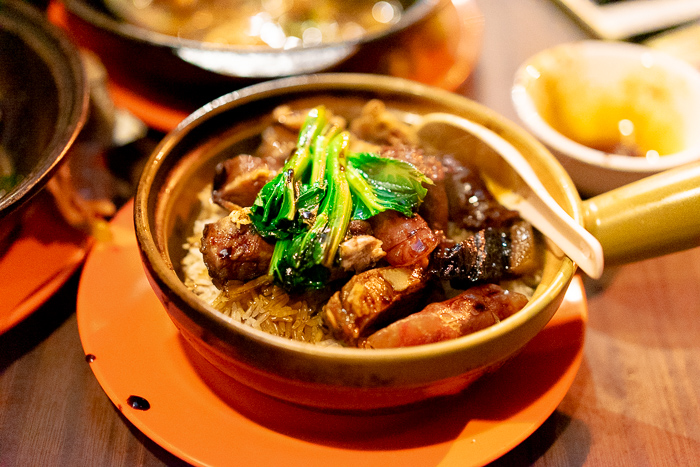 Chinese sausage clay pot rice at Kwan Kee claypot rice in Sai Ying Pun