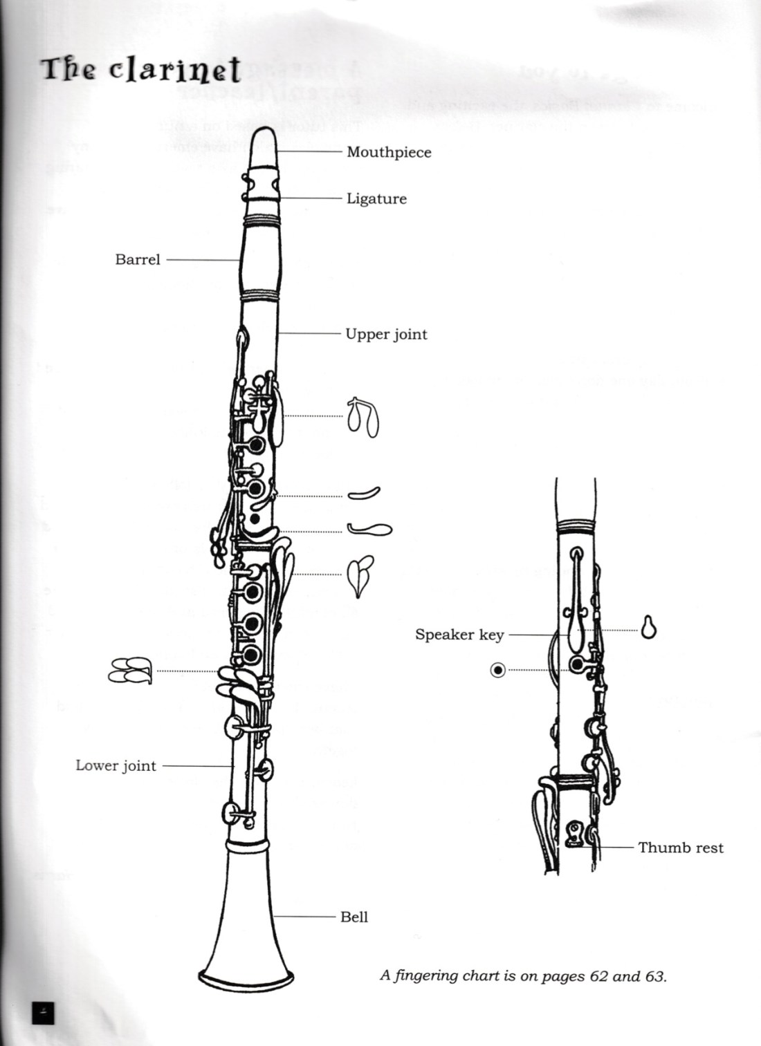 hight resolution of diagram of the clarinet