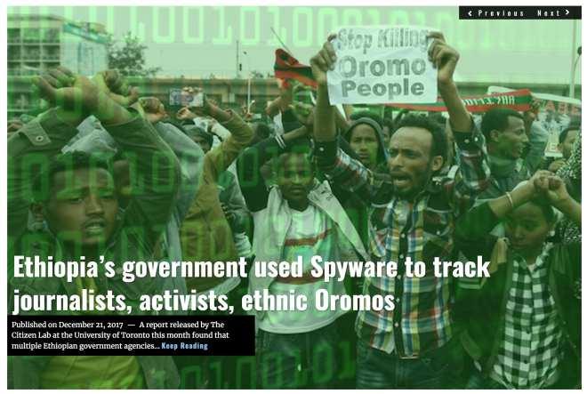Image Lima Charlie News Headline Ethiopia spyware DEC21