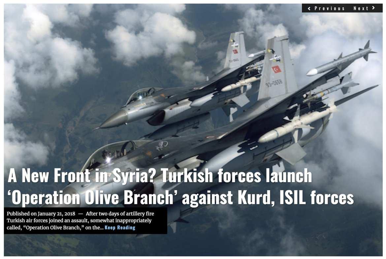 Image Lima Charlie News Headline Syria Olive Branch JAN 21