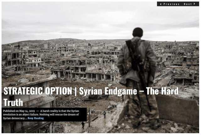 Lima Charlie News Headline STRATEGIC OPTION Syrian Endgame MAY 14 2019