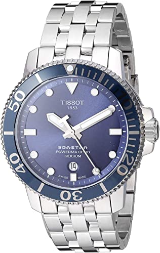 Watches for Men: Tissot Men s Seastar Swiss Automatic Sport Watch with Stainless Steel Strap  Silver  Model  T1204071104101  (Tissot Watches for Men), (Tissot).