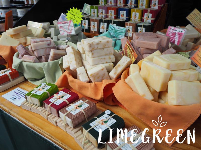 サラマンカマーケットの石鹸