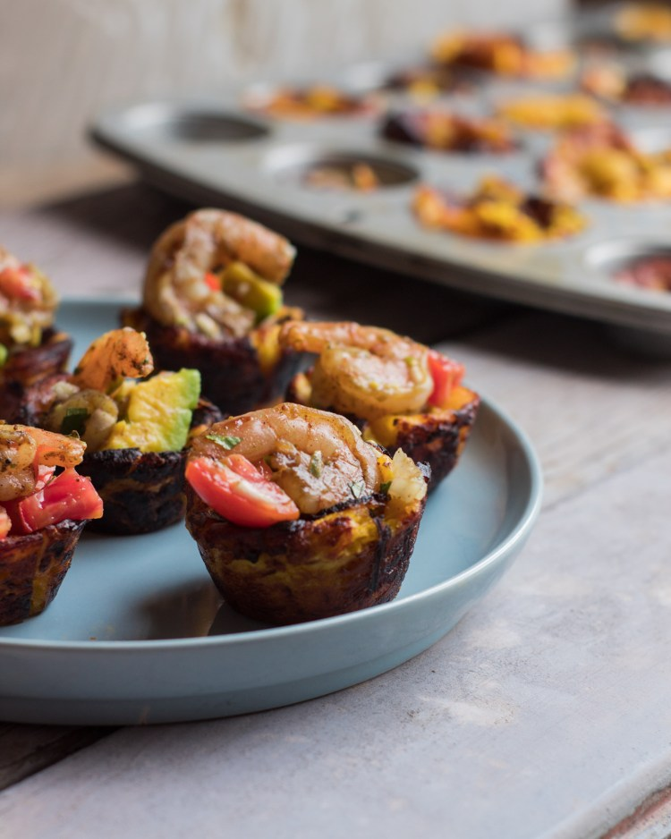 Plantain Cups with Avocado Salsa