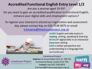 Functional English Entry 1 and 2 leaflet for Sept 2018