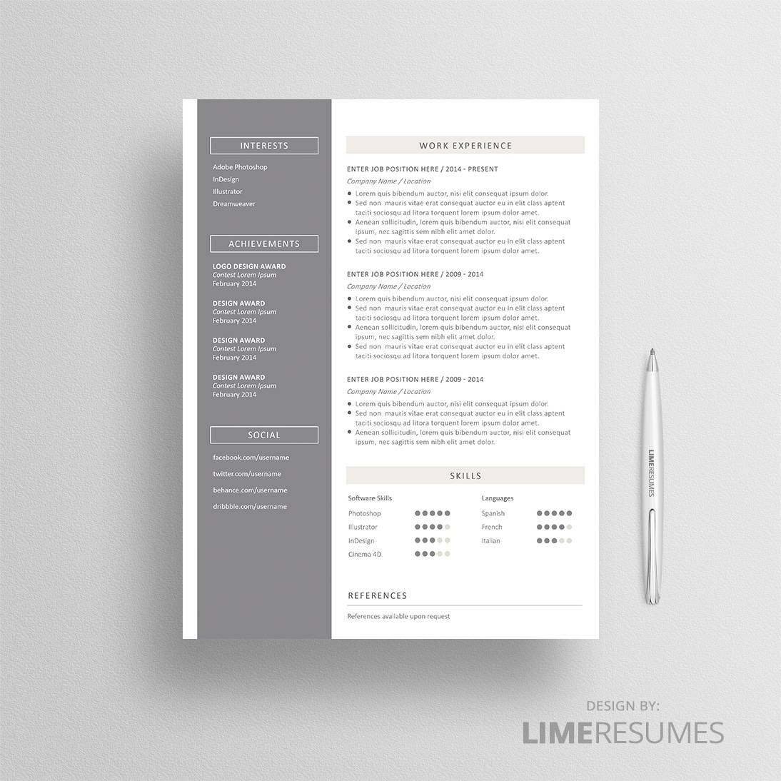 Pages Templates Resume Resume Template 28