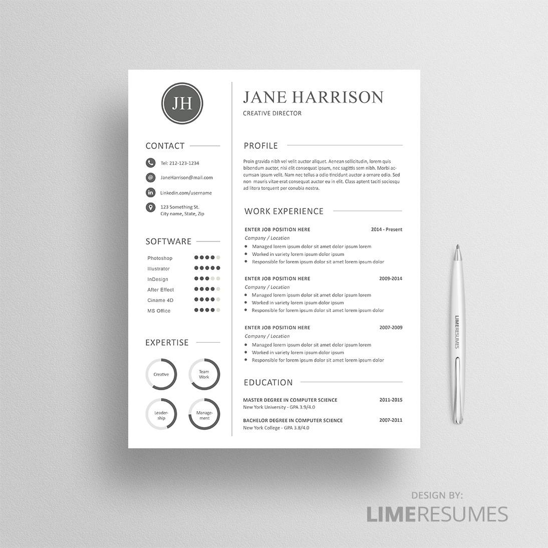 Reference Page For A Resume Professional Cv Template 25