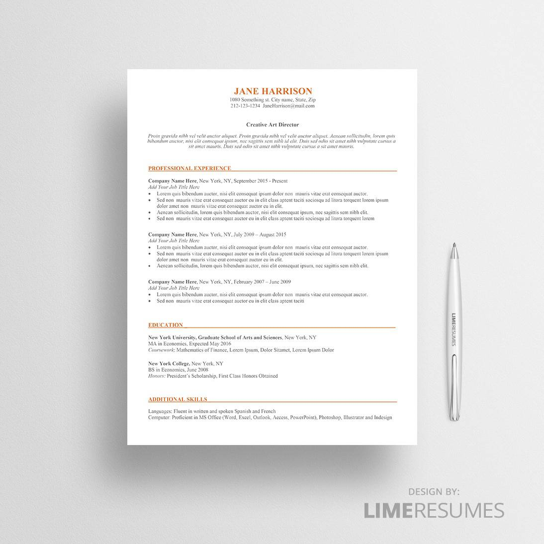 Ats Resume Template Ats Resume Template Ats Friendly Resume Template