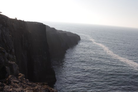 Looking south down the cliffs near the Burren