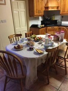 Grainne had breakfast set up for us each morning.