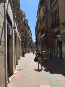 A side street in downtown Malaga