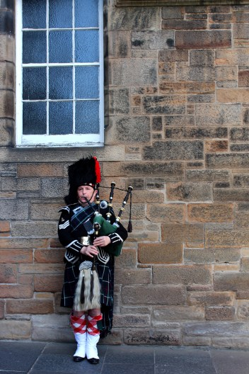 A trip to Scotland wouldn't be complete without seeing a bagpiper.