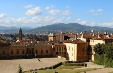 View of downtown Florence from the Boboli Gardens