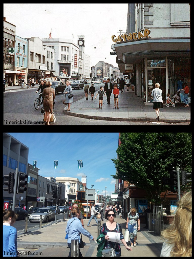 Thomas Street and O'Connell Street This picture from the late 1960s show how quickly the streetscapes can change. The shop once called Gaywear is became A-wear (no longer trading as of end 2013).