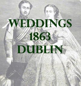 Dublin Weddings 1863