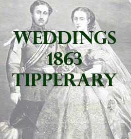 Tipperary Weddings 1863