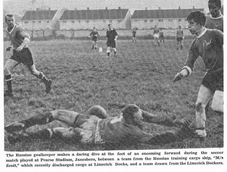 Russian Soccer Team Plays in Janesboro, 1967