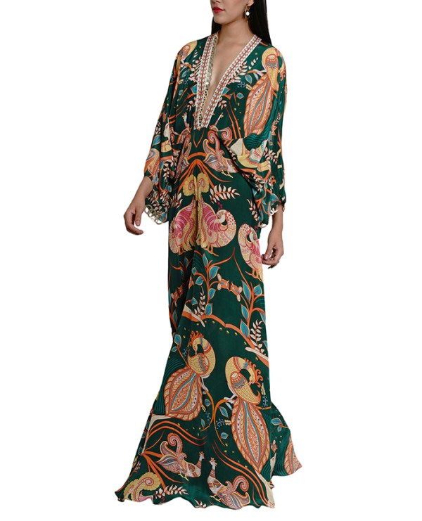 Printed Embroidered Kalamkari Jumpsuit