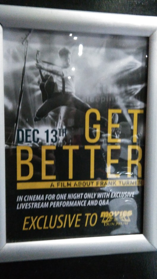 Get Better Frank Turner Documentary Poster Movies@ Dundrum