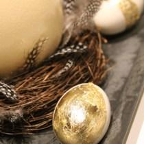 DIY Goldene Eier Deko
