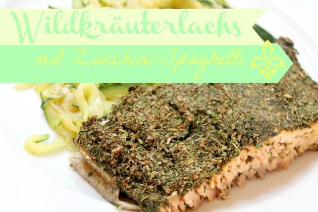 Wildlachs mit Zucchini-Spaghetti