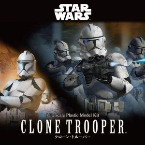 STAR WARS CLONE TROOPER 1/12 BANDAI MODEL KIT