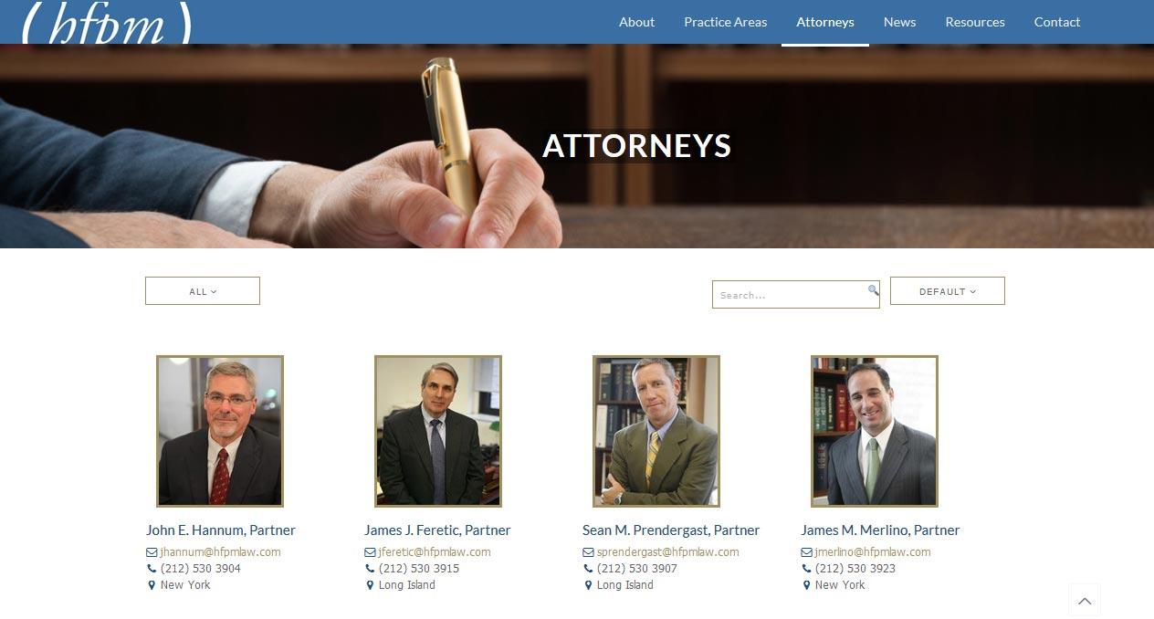 attorney website design by LIMIT8
