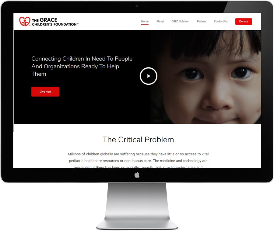 The Grace Children's Foundation website design by LIMIT8