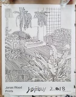jonas wood signed gagosian show poster print with receipt mint