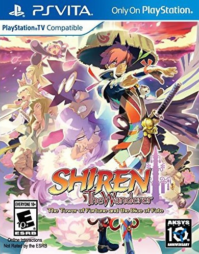 shiren the wanderer the tower of fortune and the dice of fate aksys ps vita cover