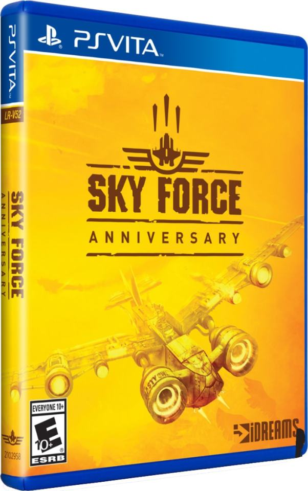 sky force anniversary limitedrungames.com ps4 cover