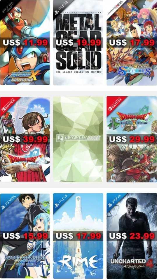 PlayAsia Weekly Sale Week 7 2018