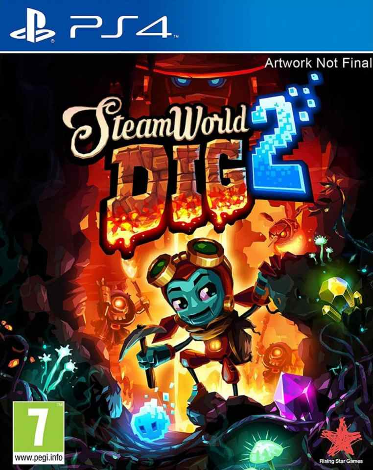 steamworld dig 2 rising star games ps4 nintendo switch cover