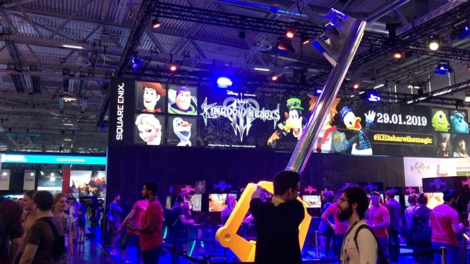 kongdom hearts 3 gamescom 2018 booth