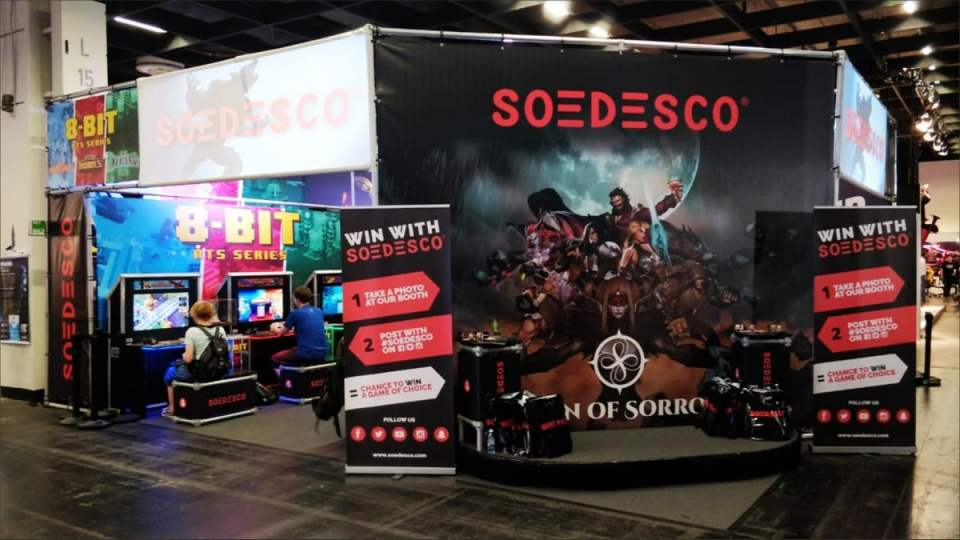 soedesco gamescom 2018 booth