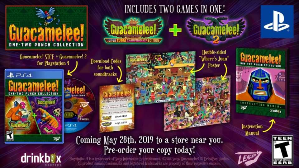 guacamelee one two punch collection drinkbox studios leadman games ps4 nintendo switch limitedgamenews.com