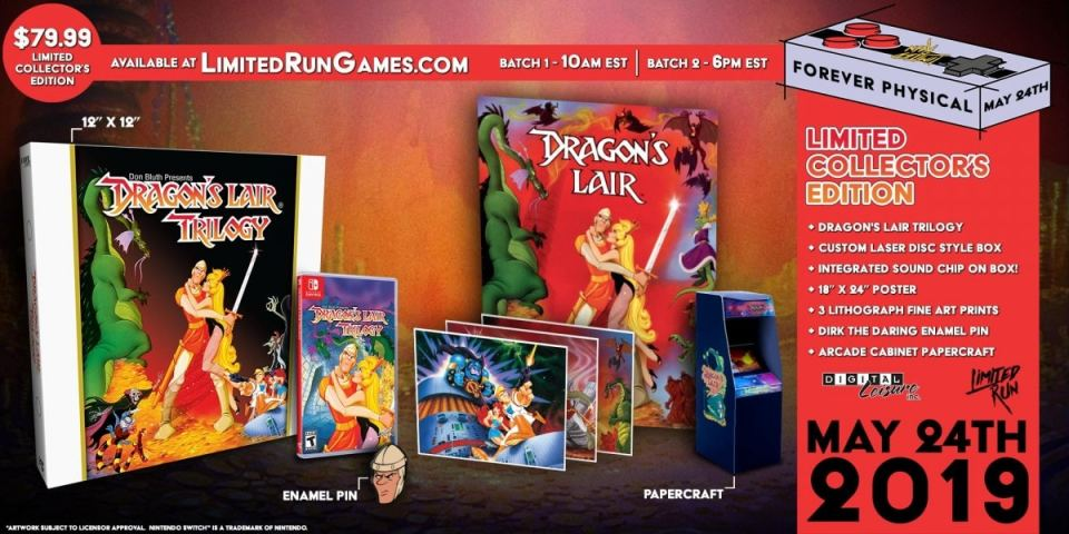 dragons lair trilogy collectors edition retail limited run games nintendo switch cover limitedgamenews.com
