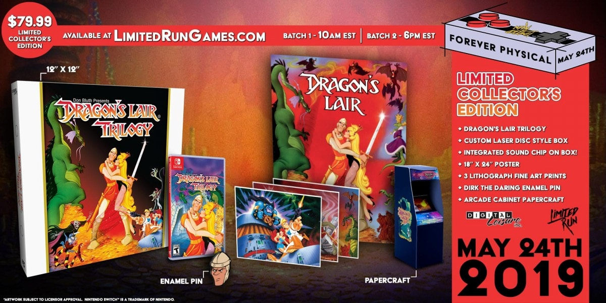 Dragons Lair Trilogy for Nintendo Switch - Limited Game News