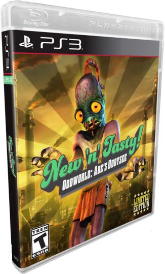 oddworld abes oddysee new n tasy standard edition retail limited run games ps3 cover limitedgamenews.com