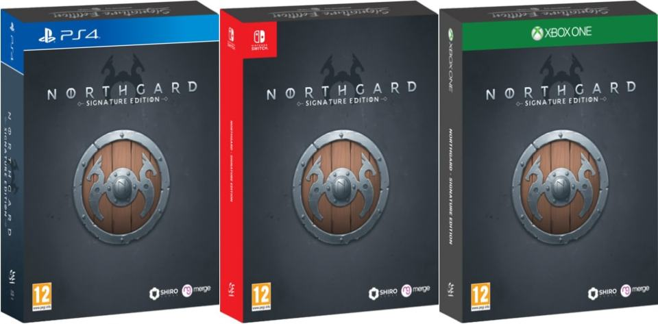 northgard signature edition retail ps4 nintendo switch xbox one cover limitedgamenews.com