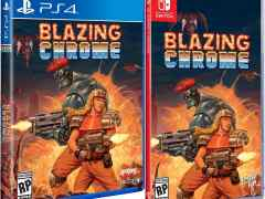 blazing chrome physical release standard edition limited run games ps4 nintendo switch cover limitedgamenews.com
