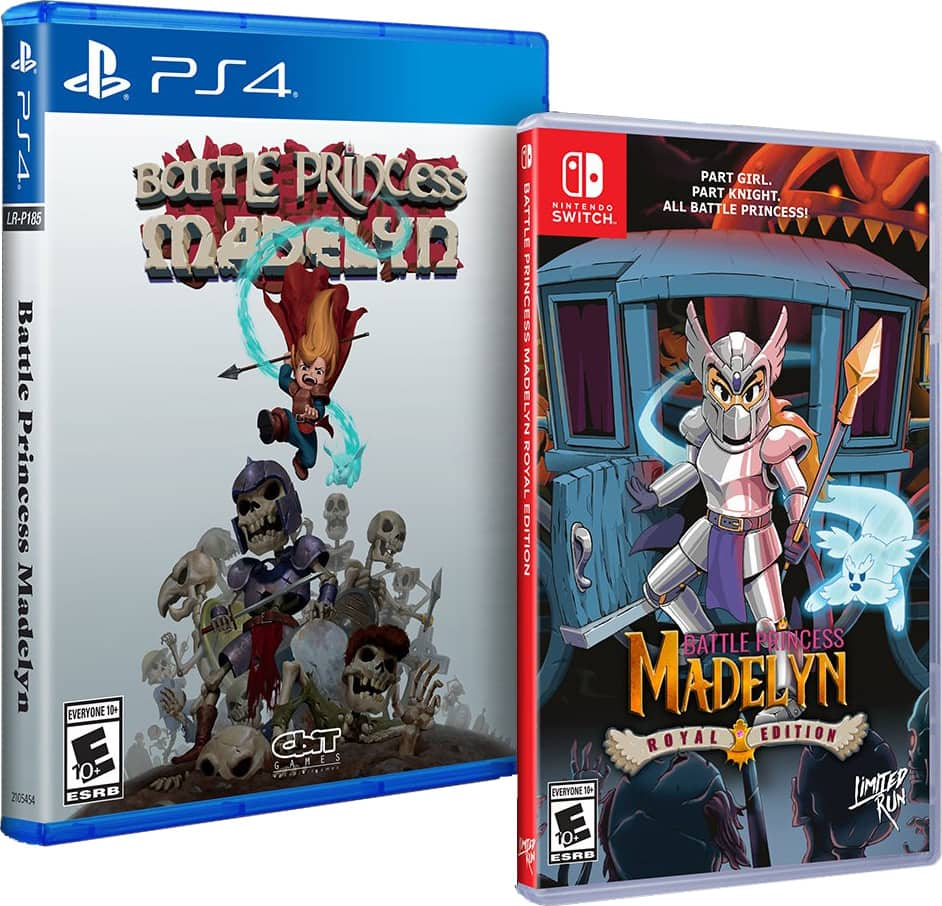 battle princess madelyn physical release limited run games ps4 nintendo switch cover limitedgamenews.com