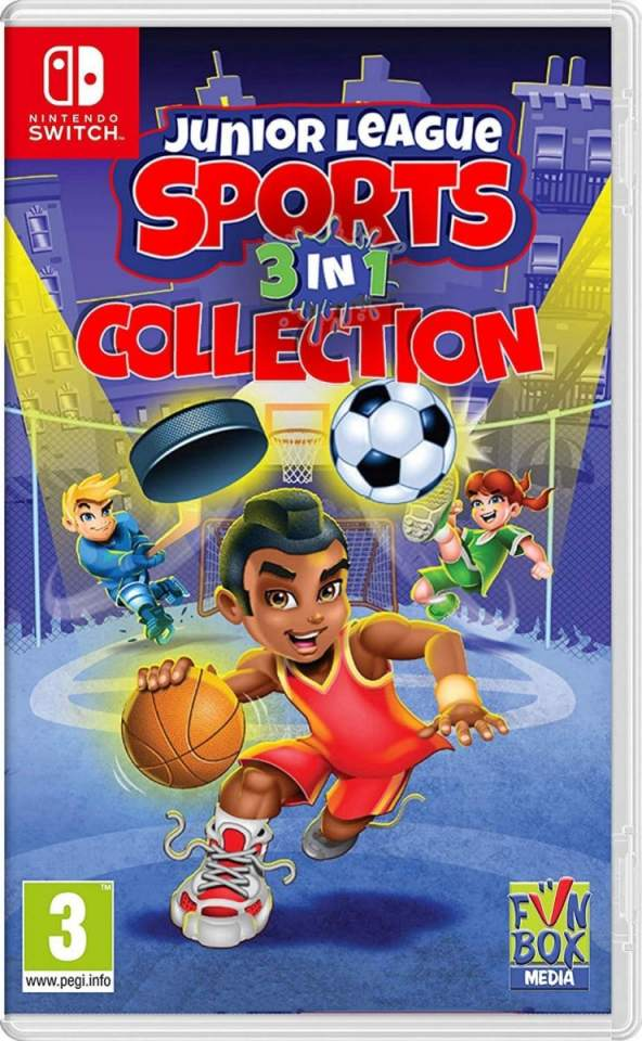 junior league sports 3-in-1 collection retail release nintendo switch cover limitedgamenews.com