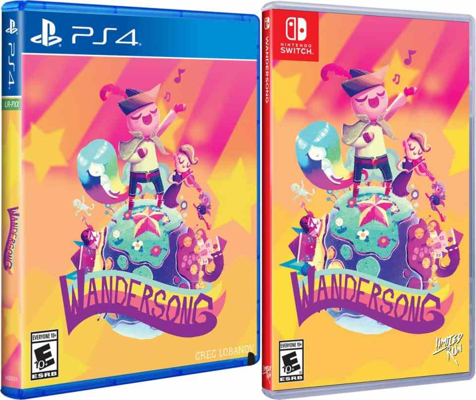 wandersong physical release limited run games standard edition ps4 nintendo switch cover limitedgamenews.com
