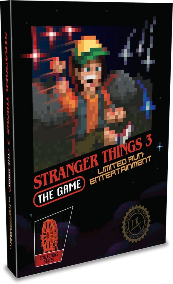 strangers things 3 the game physical release classic edition limited run games ps4 cover limitedgamenews.com