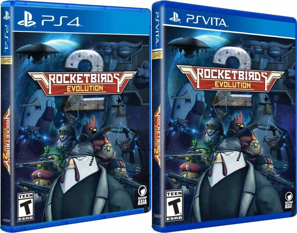rocketbirds 2 evolution physical release limited run games ps vita ps4 cover limitedgamenews.com